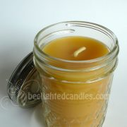 Beeswax Candle in Quilted Mason Jar