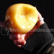 Beeswax Apple Candle