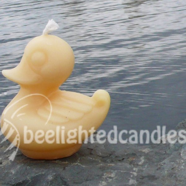 Beeswax Duck Candle