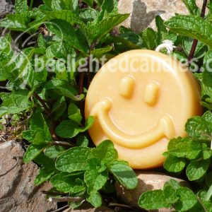 Beeswax Happy Face Candle